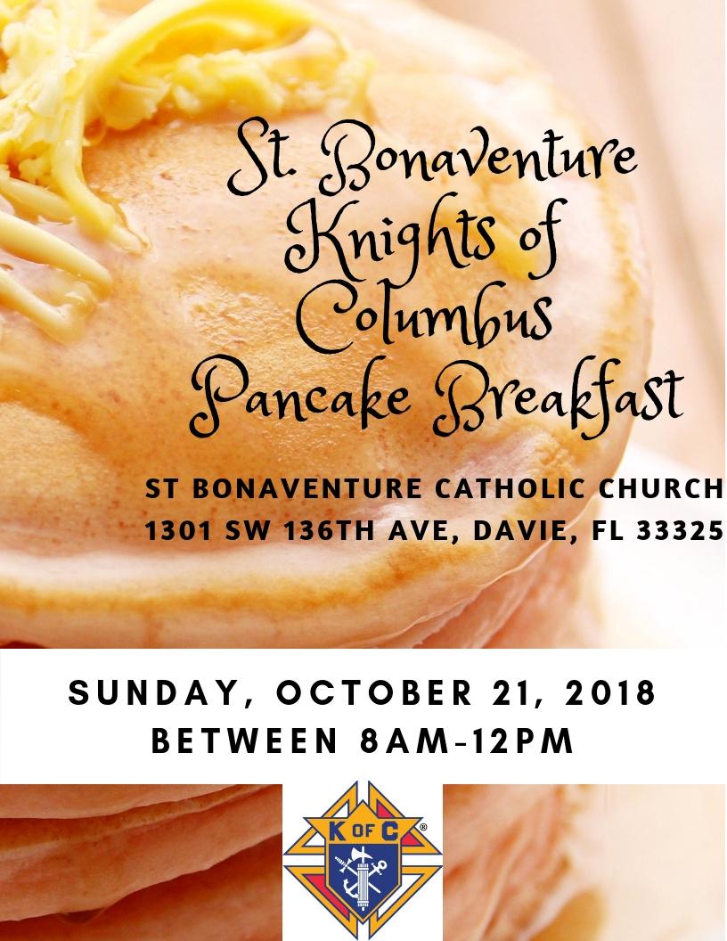 St. BonaventureKnights of Columbus Pancake Breakfast