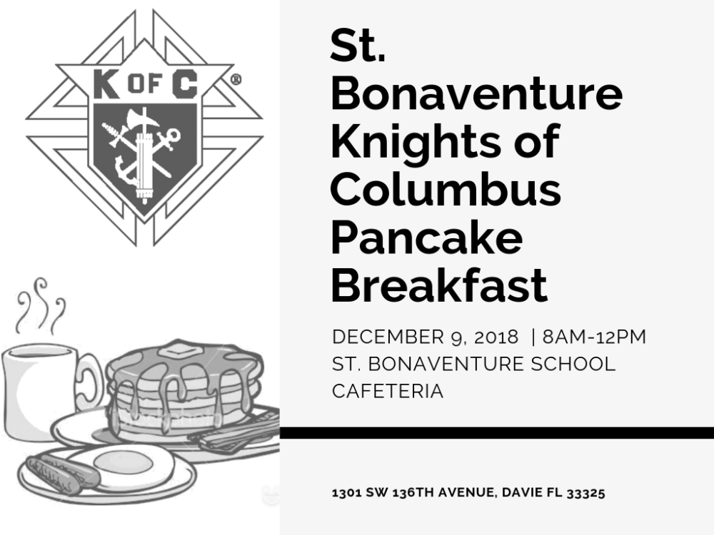 KofC Pancake Breakfast   Davie FL   Broward County